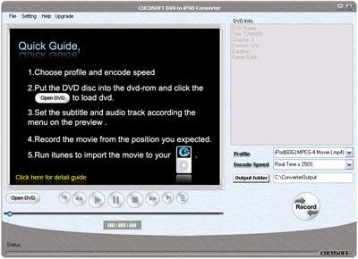 GearSoft DVD to iPod Converter screenshot: dvd to ipod, convert dvd to ipod, dvd to ipod converter, dvd to